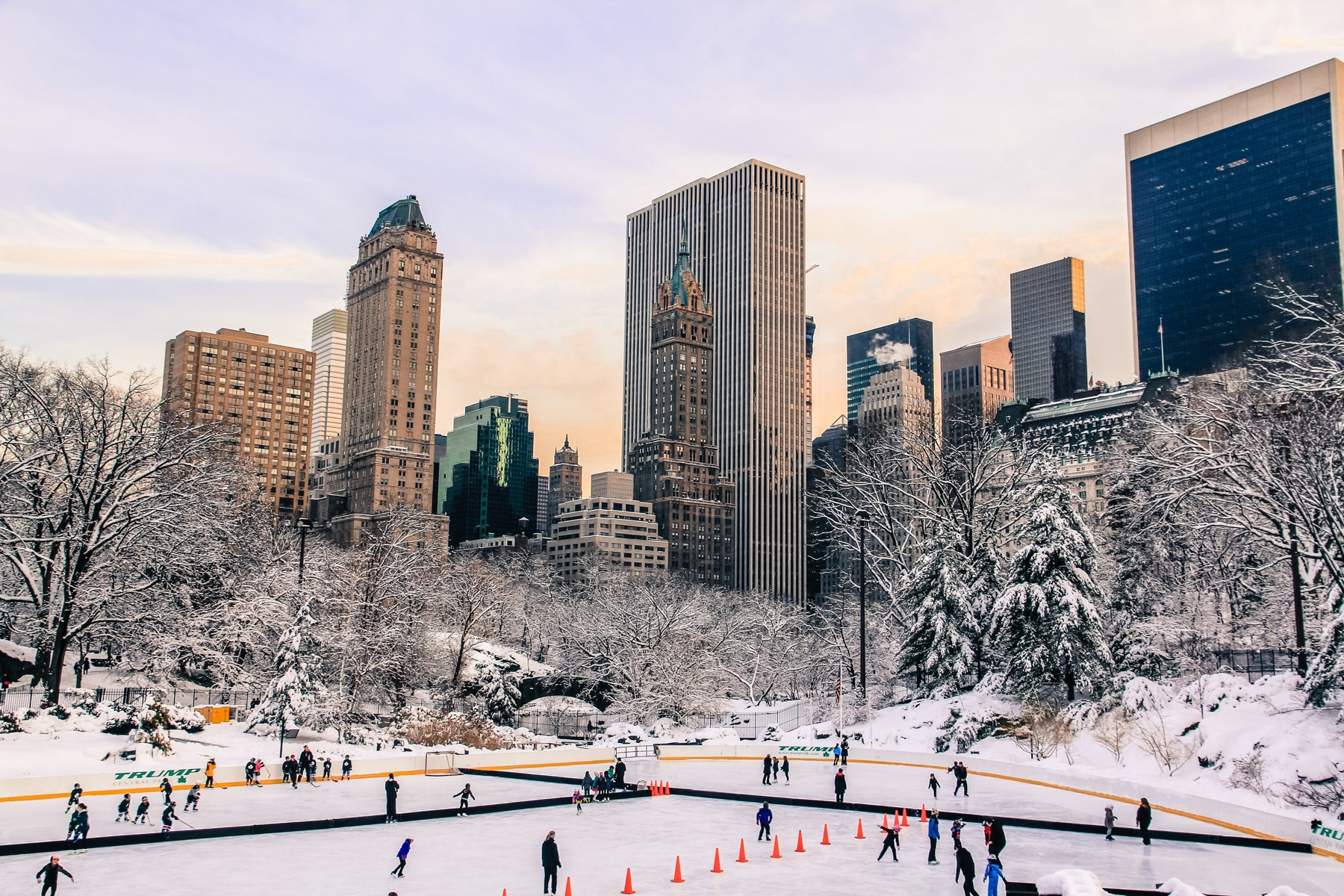 central park new york winter